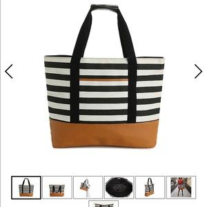 DSW exclusive free striped tote